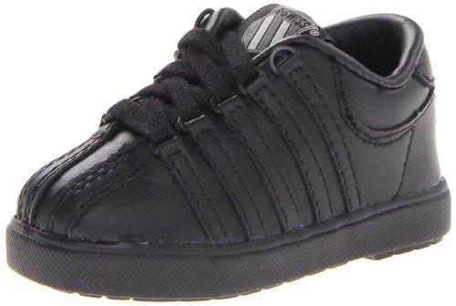 K-Swiss 201 Classic Tennis Shoe (Infant/Toddler),Black/Black,3 W US Infant