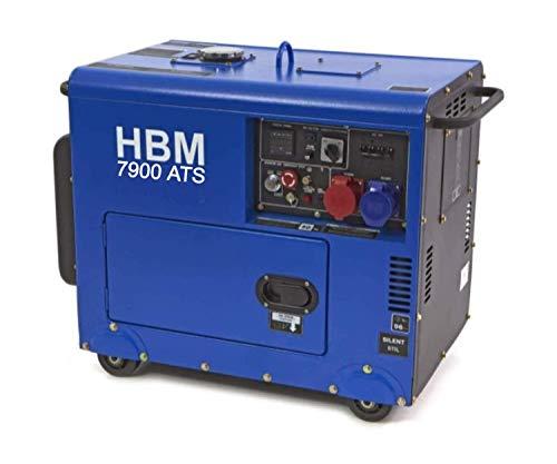 13PS Silent 7900 ATS Diesel 400v 7.9KW Standby Stromgenerator, Leise 230v 400v Stromerzeuger (Diesel 400v Generator) mit E-Starter, luftgekühlt, Ölmangelsicherung, Überlastschalter