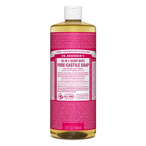 Dr. Bronner's 18 in 1 Hemp Rose Pure-Castile Soap, 32 fl oz/946 ml