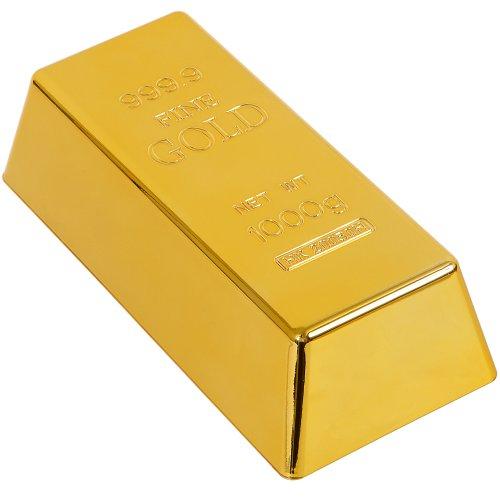 GreatGadgets Türstopper Goldbarren, aus Hartkunststoff, Gold