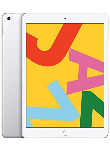 Apple iPad (10.2-inch, Wi-Fi + Cellular, 128GB) - Silver (Latest Model)