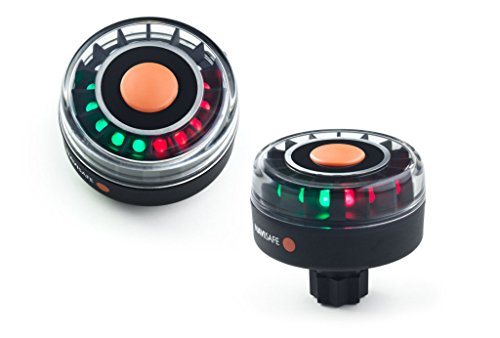 Railblaza Navi-Safe LED Navigationslicht - Navi Light Tricolor 2 NM mit Basis für Sternhalterung