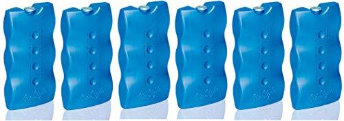 GiòStyle - Juego de 6 baldosas de hielo sintéticas para bolsa térmica, nevera portátil Hielo térmico para enfriar alimentos y bebidas.