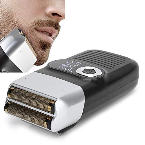 Afeitadora de láminas, maquinilla de afeitar eléctrica calva para barba y bigote para hombres con pantalla LCD, Con Recortadora De Precisión Para La Barba (recargable)