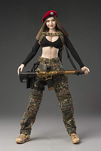 1/6 Scale Military Action Figures Deban Camouflage Female Soldier KERR Movable Full Set Model for Collection