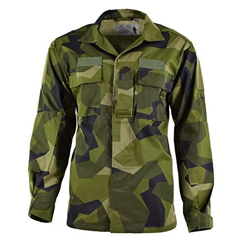 Genuine Swedish army M90 jacket splinter camouflage field troops lightweight shirt military surplus BDU Sweden (Large Long 42.5')