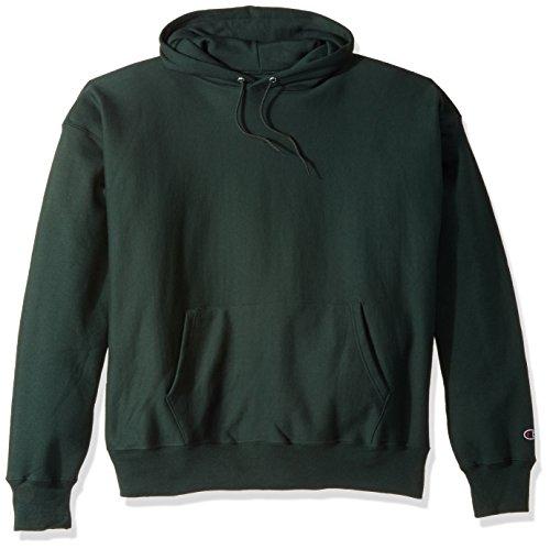 Champion Men's Men' Reverse Weave Fleece Pullover Hoodie, Dark Green, Small