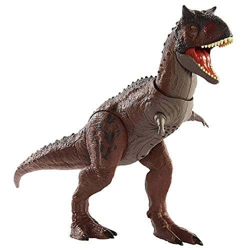 Jurassic WorldCampCretaceousIsla Nublar Control 'N Conquer Carnotaurus Toro Large Dinosaur Figure with Primal Attack Feature, Sounds, Movable Joints, Authentic Detail; Map & Stickers