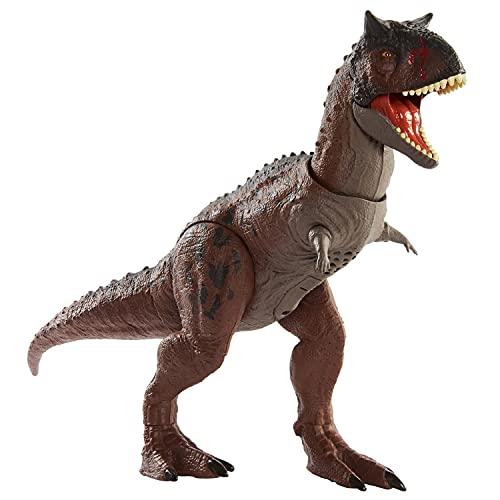 Jurassic World- Dinosauro Carnotauro Toro Controlla e Distruggi Giocattolo per Bambini 4+Anni, GNL07