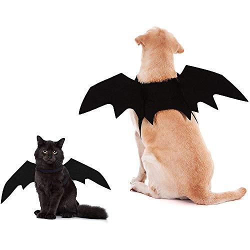 UNIIKE Alas De Murcilago para Mascotas De Halloween, Paquete De 2 Decoraciones para Disfraces De Alas De Murcilago para Perros, Gatos, Divertidos Cachorros, Gatos, para Fiestas De Halloween