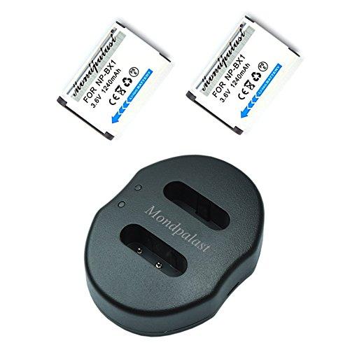 Mondpalast @ 2x Reemplazo Baterías NP-BX1 NPBX1 npbx1 1240mAh + 1x USB...