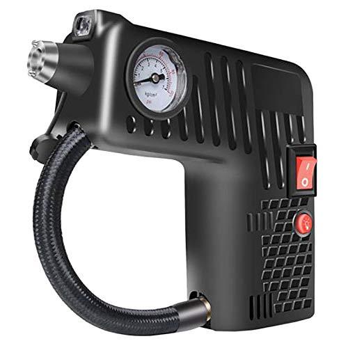 Gaoominy Bomba de Compresor Inflador de Aire PortáTil para Coche EléCtrico para Motocicleta, Compresor de Martillo de Seguridad para NeumáTicos, LED InaláMbrico 12 V