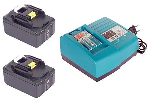 2pcs 18V 4000mAh Ersetzen Makita Akku BL1840 BL1830 BL1815 LED BL1840B BL1850 für Makita Baustellenradio DMR102 DMR109 DMR108 DMR107 mit 1.5A Makita Ladegeräte