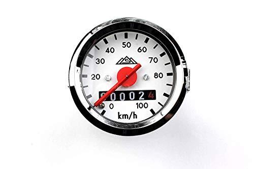Set Tacho Tachometer MMB Ø 48 (bis 100 km/h) MMB passend für Simson KR51,KR51/1,KR51/2 Schwalbe