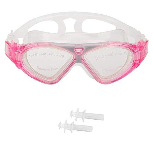 Professionele anti-condens zwembril, siliconen omlijst zwemmen Duikbril Maskerbril Anti-condens Snorkelen Sport Zwembril(Roze)