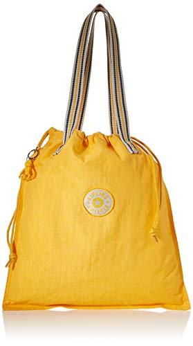 Kipling Damen New Hiphurray Tote, Gelb (Vivid Yellow), 39x43x1 cm
