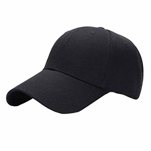 Kappen Unisex Mütze Snapback Cap Flat Brim Caps Hip Hop Baseball Cap Baseballmütze Classic,für Herren und Damen (Schwarz)