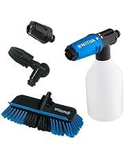 Nilfisk Click&Clean accessoireset voor voertuigreiniging voor hogedrukreinigers, compatibel met Nilfisk hogedrukreinigers, ideaal voor het reinigen van auto's en motorfietsen, banden en velgen