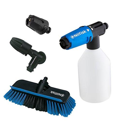Nilfisk Click&Clean Zubehör-Set zur Fahrzeugreinigung für Hochdruckreiniger – kompatibel mit Nilfisk Hochdruckreinigern – ideal zur Reinigung von Autos & Motorrädern, Reifen & Felgen