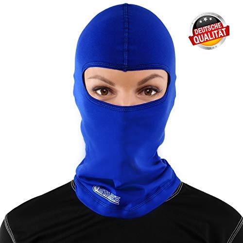Starks Cagoule Moto Eté Vélo Masque | 90% Coton de Haute Qualité A Sechage Rapide, Protege de la Poussiére du Vent du Soleil|Idéal pour l'Eté Extreme Sport Bike Extérieur Ski | Cagoule Bleu