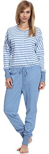 Be Mammy Pijama Premamá Entero Lactancia BE20-130 (Azul, XL)