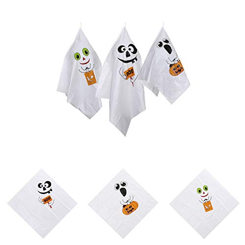 Kecar Hanging Spirit Scary Specter Flying Pendant for Party Haunted Garden Decorations, Decoration & Hangs, for Xmas Day(White)