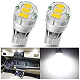 194 LED Bulbs 168 2825 W5W T10 LED Interior Light Bulbs 3020 3SMD LED Car Bulbs LED Replacement Bulbs for Car Interior Dome Map Parking Trunk Door Courtesy License Plate Side Marker Lights 6000K, 2pcs