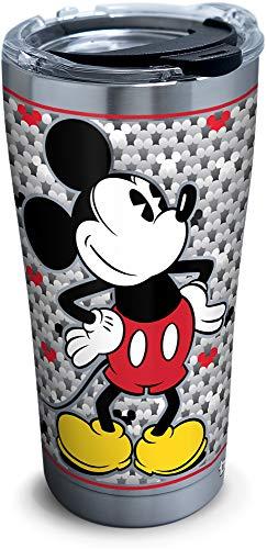 Tervis Fiesta - Vaso de acero inoxidable, diseño floral, color morado, Plateado, 591.47 mililitros, 1