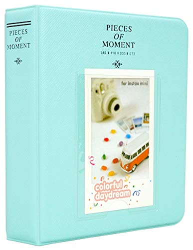 Yosuny Mini Album Schutzhülle 64 Taschen für 3 Zoll Fujifilm Instax Mini Filme, für Mini8 8+ Mini9 Mini11 70 90 25 50s 7s Liplay,Kodak/HP Sprocke(Eisblau)