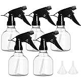 BAKHK Sprühflaschen 5 Stück 250ml Zerstäuber Sprayflasche, Flaschenrumpf Transparent mit Trichter...