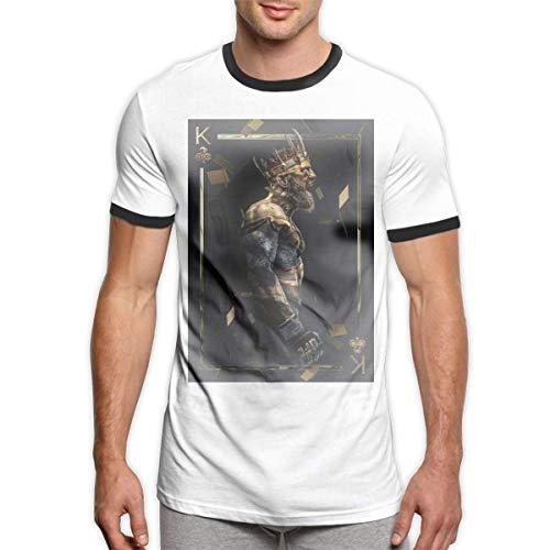 HuXiHuXiHu Camisetas y Tops Hombre Polos y Camisas, Leisure Men's T-Shirt Conor Mcgregor Round Neck Short Sleeve T Shirts