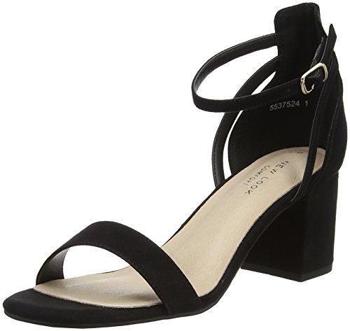 New Look Values, Zapatos de tacón con Punta Abierta Mujer, Negro (Black 1), 36