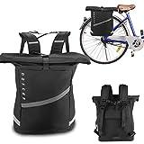 Noxcer 2in1 Fahrradtasche für Gepäckträger & Rolltop Rucksack | 25L Volumen Wasserabweisend...