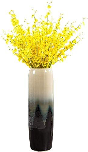 FENGRONG Vase Dekoration Wohnzimmer-Schlafzimmer-Haus Fest Firma Getrocknete Blumen-Arrangement Dekorative Ornamente Keramik Bodenvase (Color : 80cm)