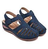 MIAOXIAO Mujer Sandalias Punta Cerrada Sandalias de Verano de Sandalias Planas Cómodos Casual Zapatos de Playa,B,38