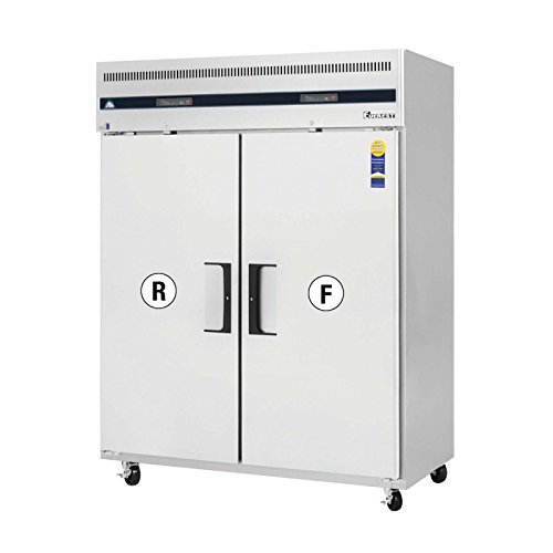 Everest ESWRF2 Reach-in Refrigerator and Freezer Combo 2 Solid Doors, 115v, NSF - 52 cu. ft.