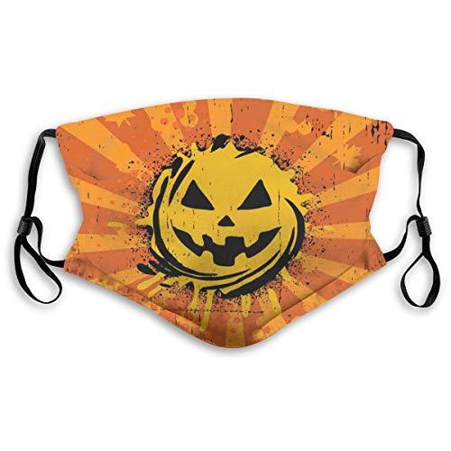 Gezichtsmaskers vintage Halloween pompoen sportmasker anti stofdichte glimlachende maskers wasbaar herbruikbaar mondmasker wit