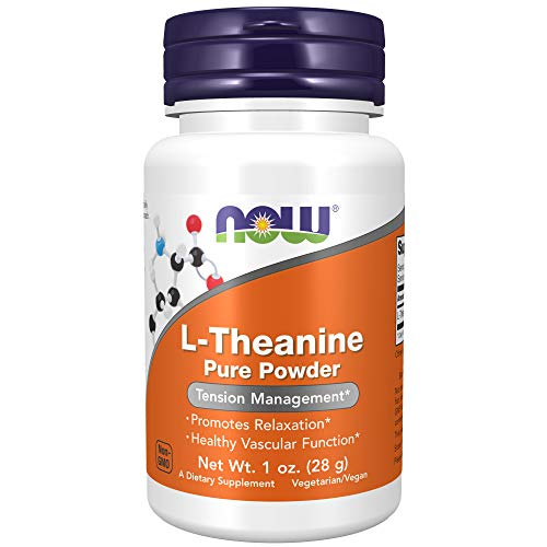 NOW Supplements, L-Theanine Pure Powder, Tension Management*, Amino...