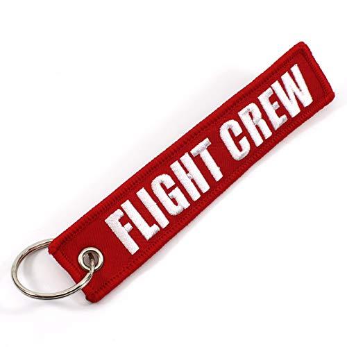 Rotary13B1 Flight Crew - Red/White - 1 Piece Keychain