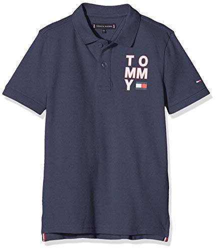 Tommy Hilfiger Jungen Graphic F/b Polo S/s Poloshirt, Blau (Blue Cbk), (Herstellergröße: 74)