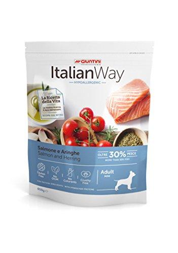 Italian Way Comida para Perros hipoalergénica Salmón y velero–Adult–Mini–8000gr