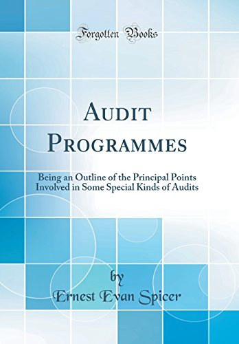 Audit Programmes: Being an Outline of the Principal Points Involved in Some Special Kinds of Audits (Classic Reprint)