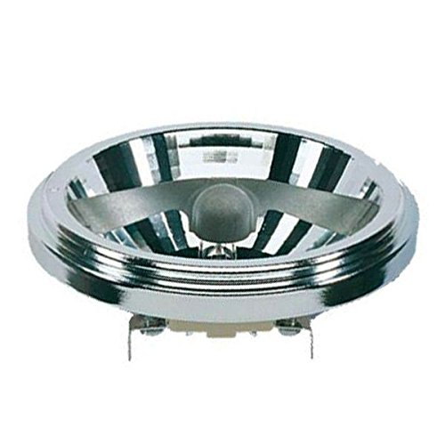 RADIUM QRB111 Halogenlampe, 12 Volt, Skylight mit Reflektor silber, Sockel G53 3000 Std. 45°/ 100 Watt EEK: C