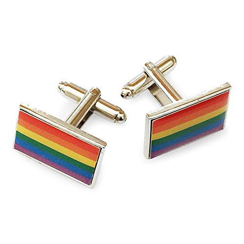 Orion Creations Homosexuell Stolz Regenbogen-Spektrum Neuheit-Manschettenknšpfe in Geschenkverpackung