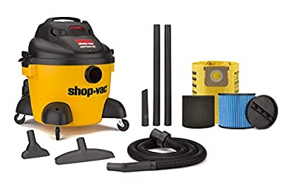 Shop-Vac 9653610 6 Gallon 3.0 Peak HP Contractor Wet Dry Vacuum,Black