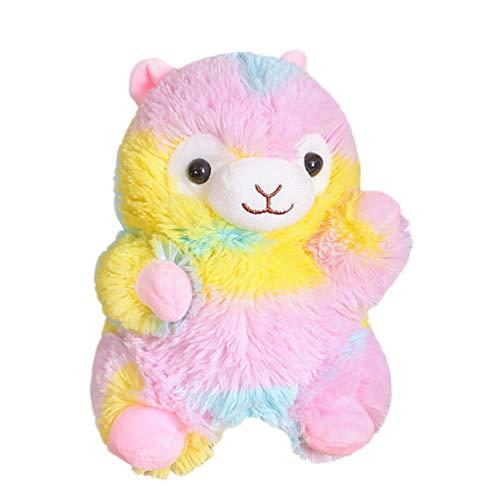TOYANDONA Plüsch Alpaka Handpuppe Baumwolle Stofftier Puppe Spielzeug zum Geschichtenerzählen Spielzeug Kinder Kinder Geburtstagsgeschenke