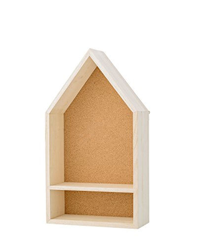 Bloomingville - Wandregal, Regal, Display Box, Haus - Paulownia - Holz - L25xH45xW10 cm