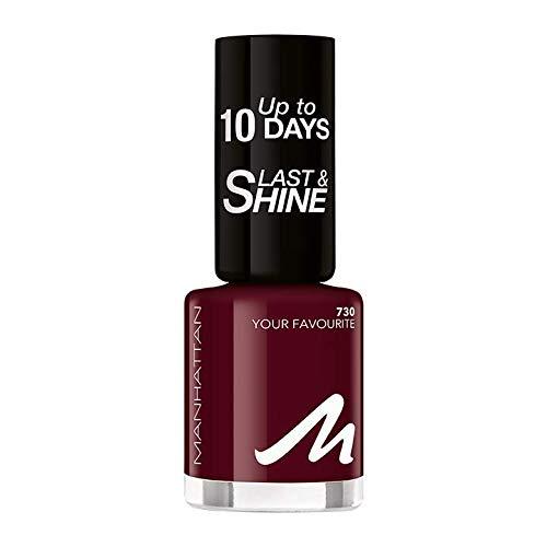 Manhattan Last und Shine Nagellack, Nr.730 Your Favorite, 1er Pack (1 X 10 ml)
