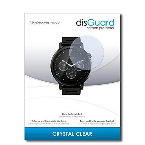disGuard Displayschutzfolie für Motorola Moto 360 (2015) 46mm [3 Stück] Crystal Clear, Kristall-klar, Unsichtbar, Extrem Kratzfest - Displayschutz, Schutzfolie, Glasfolie, Panzerfolie