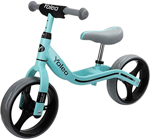 YOLEO Bicicletta Senza Pedali, Bici Senza Pedali Bicicletta Bambini 2-5 Anni / Bici da Equilibrio Manubrio e Sedile Regolabili Balance Bike /Giochi Bambini